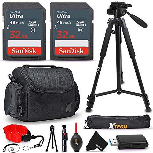 15 Pc Accessory Kit for Nikon Coolpix B600 B500 B700 A1000 A900 P1000 L340 L840 L830 W300 W100 P900 P610 AW130 AW120 S9900 S9700 S7000 S6900 P530 Digital Cameras + 64gb SD Memory, Case, Tripod + More