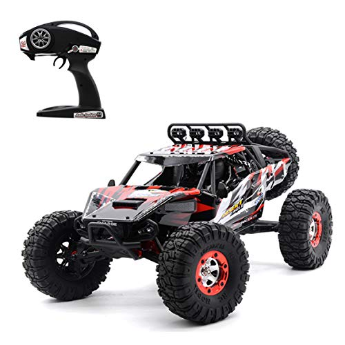 Brushless High Speed RC Car, Keliwow 1/12 Scale 4WD 43 MPH High Speed Off-Road RC Truck 2.4Ghz Rock Crawler RTR Desert-7 (#07-Red)