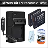 2 Pack of Panasonic DMW-BCF10 Replacement Batteries 1200MAH Each + Ac/Dc Rapid Travel Charger For Panasonic Lumix DMC-TS4, DMC-TS3, DMC-TS2, DMC-FX75, DMC-FX700, DMC-FH20, DMC-FH1, DMC-FH3, DMC-F3, DMC-F2 Digital Cameras + Screen Protectors + More