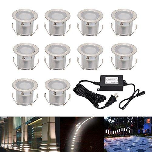 NOSIVA Pack of 10 Low Voltage LED Deck lights kit Φ1.25