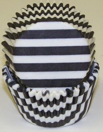 CakeSupplyShop Black and White Stripe