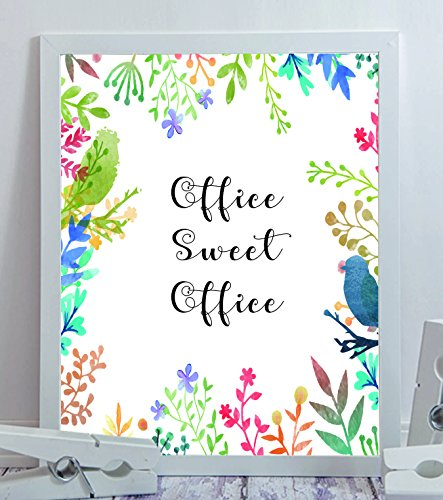 Office Sweet Funny Frame Inspirational Quote Black White Boss Gift