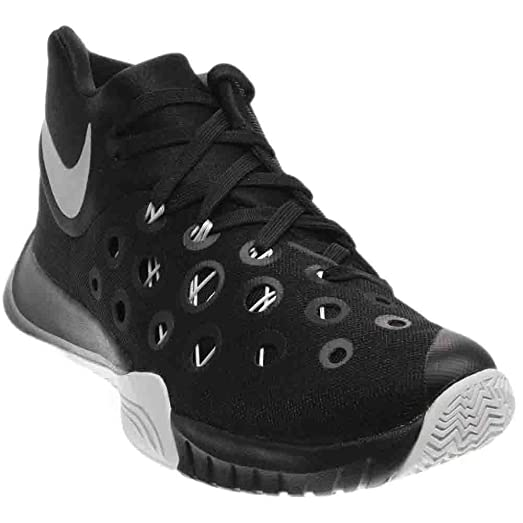 Nike Zoom Hyper Quickness 2015 749883 001 (10 M US, Black/Metallic Silver