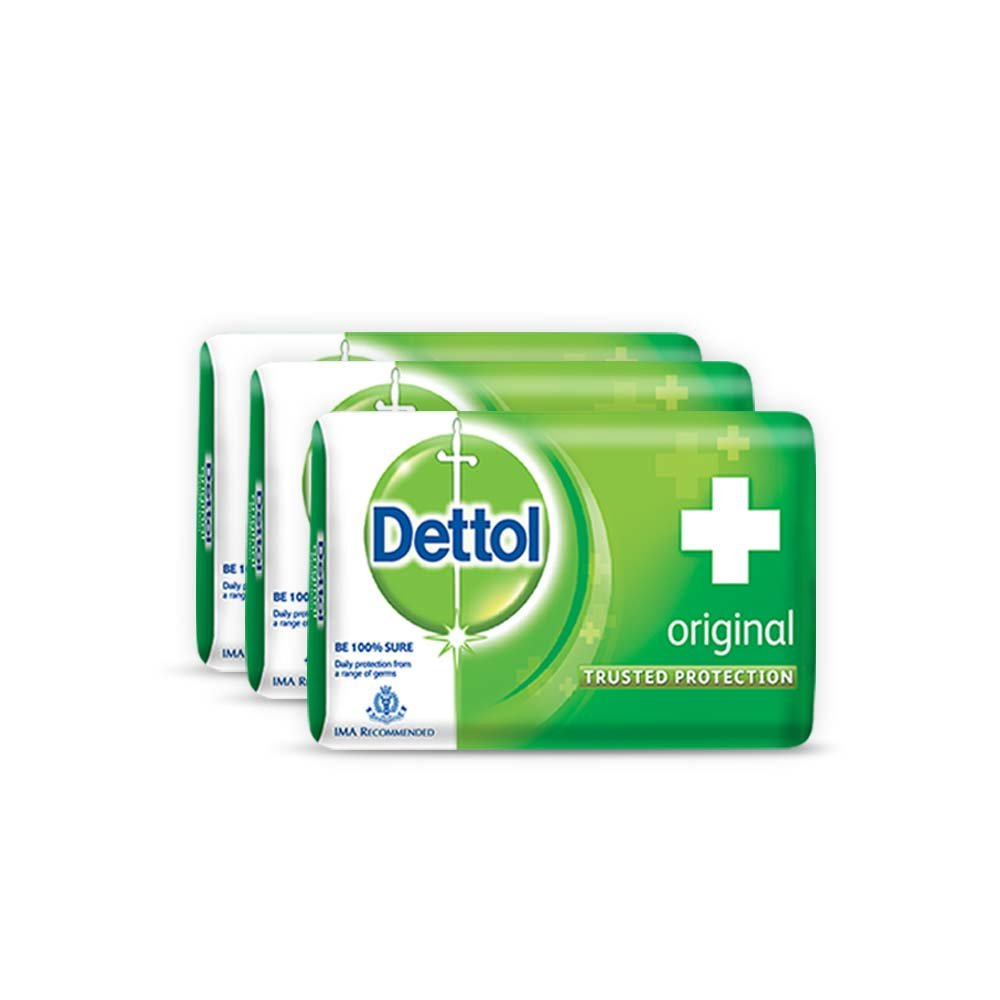 Buy Dettol Soap Value Pack Original 3 Pieces X 125 G Online At Hand Wash Sensitive 200 Ml Pouch 2 Pcs Low Prices In India
