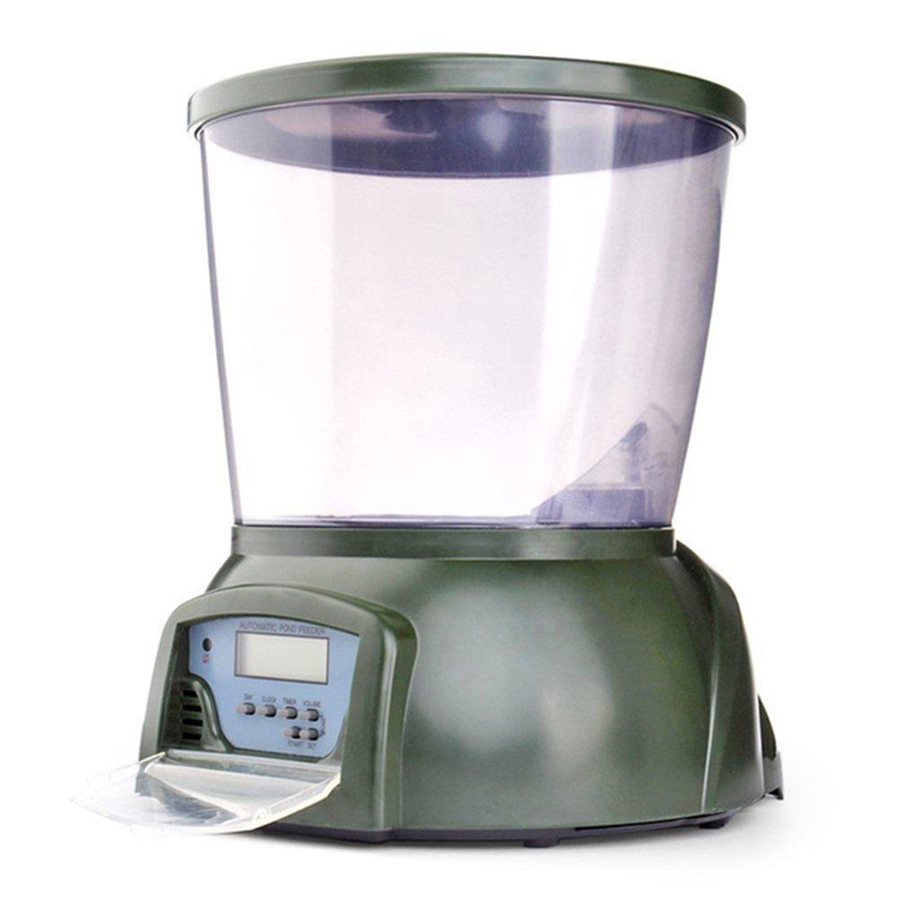 NCFAQUA Grande capacité de 4.25l de nourriture Poisson automatique numérique programmable Distributeur de nourriture 4programmable pour aquarium Réservoir étang avec écran LCD NCF AQUARIUM
