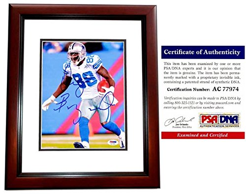 Dez Bryant Signed - Autographed Dallas Cowboys 8x10 inch Photo MAHOGANY CUSTOM FRAME - PSA/DNA Certificate of Authenticity (COA)
