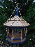 Poly Amish Gazebo Bird Feeder Spindle Hanging w/Chain Yard Handcraft homemade Md