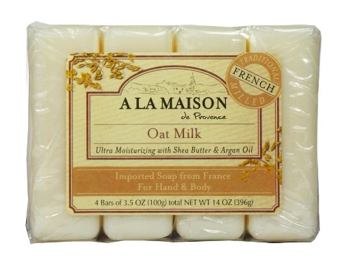 A La Maison Soap Bars Value Pack, Oat Milk, 4 Count - Glycerin Bar Soap Value Pack