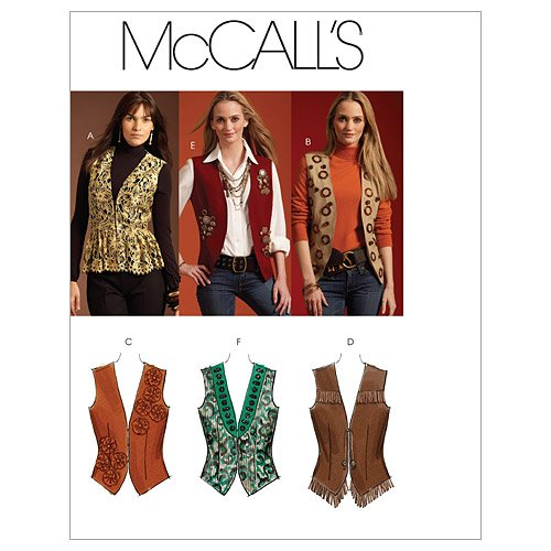 McCall's Patterns M5933 Misses' Lined Vests, Size EE (14-16-18-20)