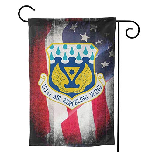 Ellive Air Force 171st Air Refueling Wing 12 X 18 Inch Outdoor Yard Flags, Decorative House Yard Flag, Polyester, Durable