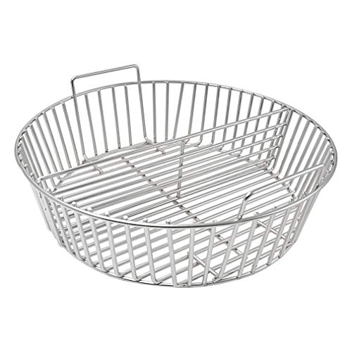 only fire Barbecue Stainless Steel Charcoal Ash Basket Fits for XLarge Big Green Egg Grill