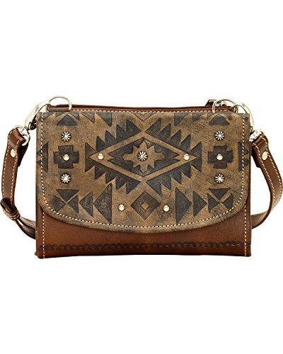 American West Shadow (American West Women's Mystic Shadow Small Crossbody Wallet Bag Dark Brown One Size)