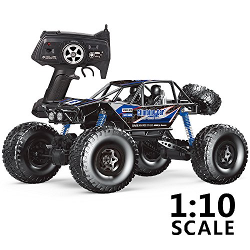 MZ RC Cars All Terrain Remote Control High Speed Vehicle 1:10 Scale 2.4Ghz 4WD Eletric RC Toys Off Road Oversized Bigfoot Monster Truck, Best Gift for Kids and Adults - Blue (blue)