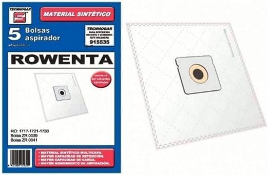BOLSA ASPIRADOR SINTETICA CARREFOUR-MOULINEX-ORBEGOZO-ROWENTA- 915535 (Bolsa 5 unidades): Amazon.es: Hogar