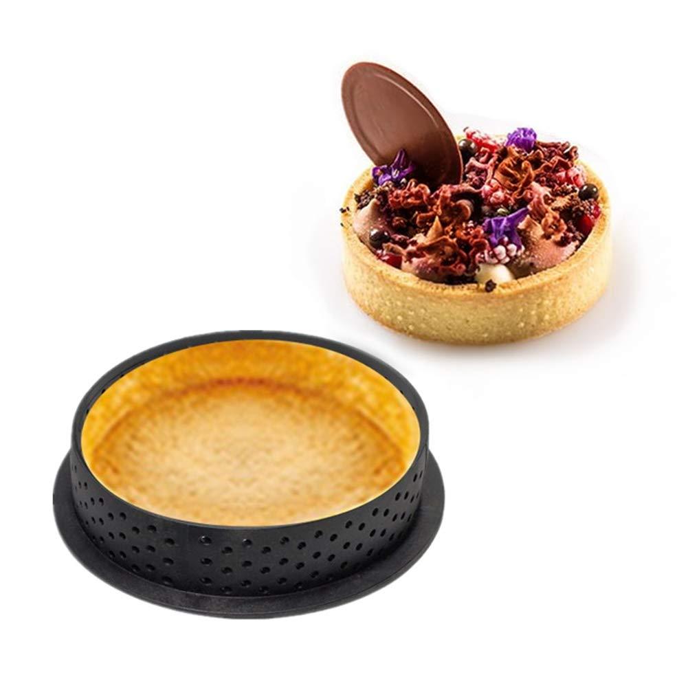 stampo per mousse circolare strumento per decorare dolci e torte fai da te Taglia libera Come da immagine Stampo rotondo in silicone antiaderente per torte stampo da cucina forato
