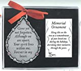 Cathedral Art CO520 Gone Yet Not Forgotten Teardrop Memorial Ornament, 2-3/4-Inch