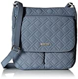 Vera Bradley Women's Double Zip Mailbag mf, Charcoal