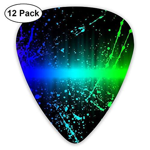 12-Pack Fashion Classic Electric Guitar Picks Plectrums Rainbow Pattern Instrument Standard Bass Guitarist]()