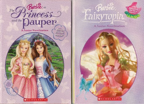 Fairytopia Set (Set of 2 Barbie Movie Books: The Princess and the Pauper + Fairytopia)