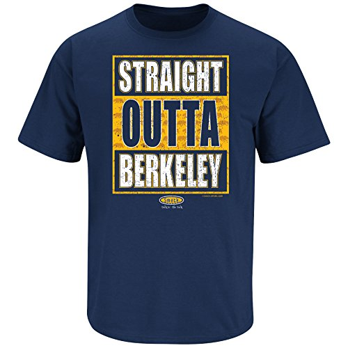 Smack Apparel Cal Football Fans. Straight Outta Berkeley Navy T-Shirt (S-5X) ()