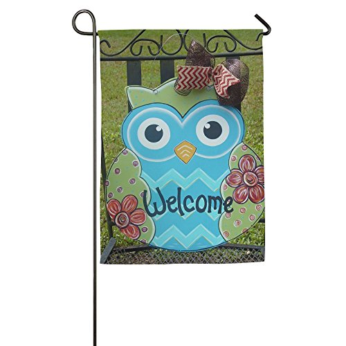 OJMDIY Decorative Garden Flags – 100% Waterproof Polyester Fibers Patriotic Owl Welcome Decor For Outdoor Use Review