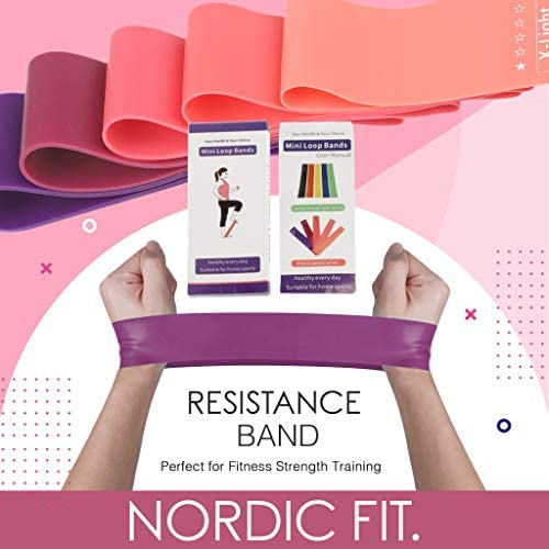 Nordic Fit Adjustable Weighted Dance & Fitness Professional Hula Hoop with Resistance Bands, Great for Burning Fat, Dancing, Exercise and Weight Loss - Start The Year with a New You, Transform 4
