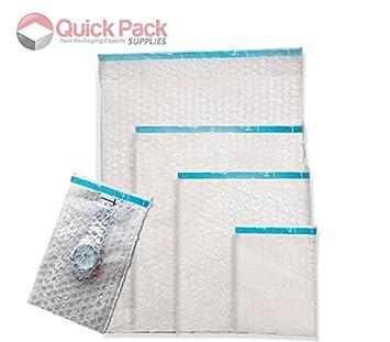 50 pcs 15x25cm Poly Pouches Bubble Bags Packing Envelopes Wrap Mailers