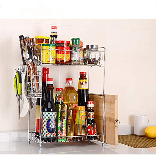 Cuekondy 2019 New Kitchen Racks and Shelves Countertop 2-Tier Standing Spice...