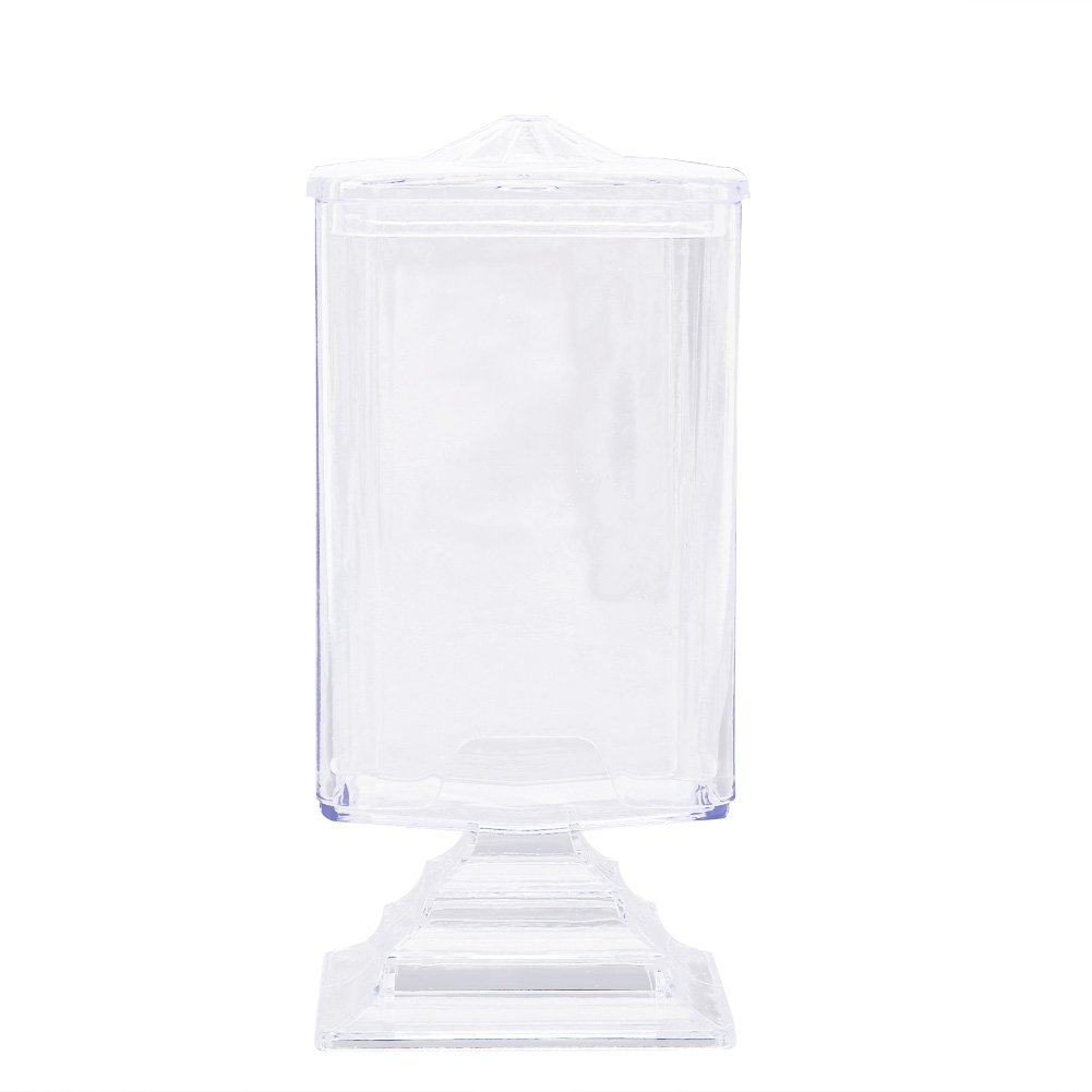 Domybest Makeup Cotton Pad Box Clear Nail Art Remover Paper Holder Organizer Case