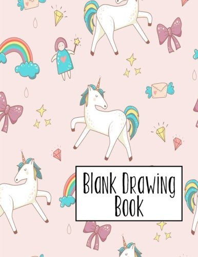 Blank Drawing Book: 100 pages 8.5x11 Large Sketchbook Journal (Unicorn Theme) (Volume 4)
