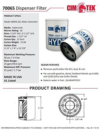 Cim-Tek 70065-12 400HS-30 Spin-On Filter 12-Pack by Cim-Tek (Image #2)