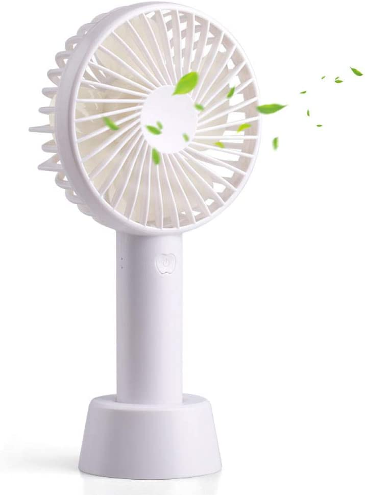 Portable Mini Fanmini Fan Handheld Small Fan Office Desktop USB Carry@White/_N9 Handheld Fan with 1200 Mah Battery
