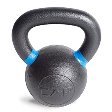 CAP Barbell Cast Iron Competition Weight Kettlebell, 26-Pound, Black/Blue