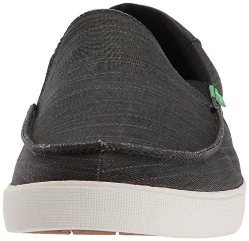 Sanuk Hombres Sideline Jean Slub Sneaker Black Slub