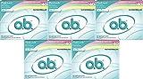 o.b. Applicator Free RVAjx Digital Tampons, Regular, Super and Super Plus Multi-Pack, 40 Count (5 Pack)