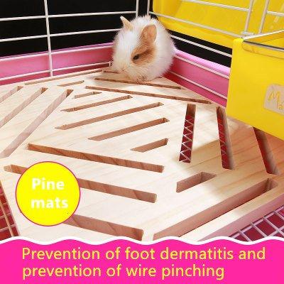 Alfombrilla de madera de conejo de Hypeety para pies de juguete con animales pequeños, conejo, chinchilla, cobaya, conejo, Totoro, suministros de jaula de ...