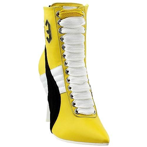new product 1d840 1f4e9 PUMA x Fenty by Rihanna Women Sneaker Heels (Yellow): Amazon ...