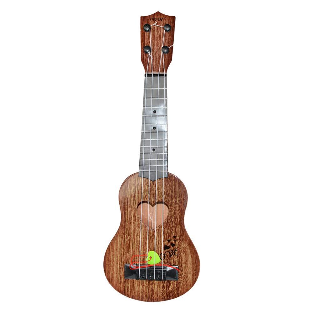 Luoluoluo Giocattoli Educativi,Beginner Classical Ukulele Chitarra educativa Giocattolo Strumento Musicale per Bambini Arancione