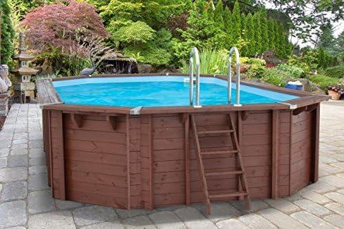 piscina a y 96188, madera, Gabriella Piscina, 7,27X 3,96X 1,38m, Bomba, Pool Escalera, Skimmer