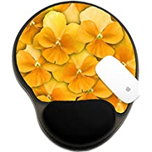Luxlady Mousepad wrist protected Mouse Pads/Mat with wrist support design IMAGE ID: 37363536 Beautiful spring or summer background of yellow pansies