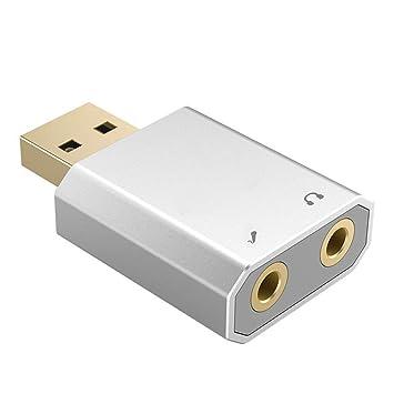BeonJFx - Tarjeta de Sonido Externa USB para PC y Ordenador ...