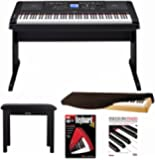 Yamaha DGX-660 88 Key Digital Piano with Knox Piano Bench,Dust Cover and Book/DVD