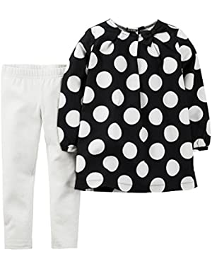 Baby Girls' 2 Piece Dotted Top Set (Baby)