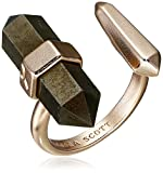 Kendra Scott Jordan Rose Gold Brown Pyrite Adjustable Ring, Size 5-7