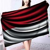 Cotton Bath Towel Flag of INDONESIA Super Soft L39.4 x W19.7 INCH
