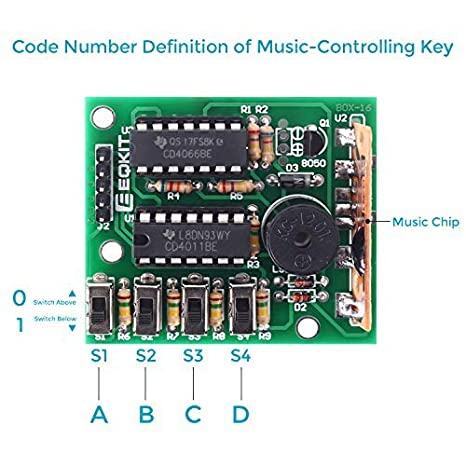 WHDTS DIY Electronic 16 Music Sound Box DIY Kit Module Soldering Practice Learning Kits for Arduino