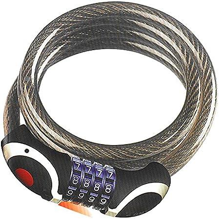 Sunlite Lock Bike Leash Cable Combo 4Mx3.6F M-Bk