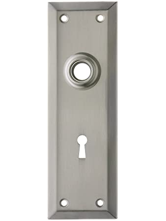 Stamped Brass New York Back Plate With Keyhole In Oil Rubbed Bronze   Door  Lock Replacement Parts   Amazon.com