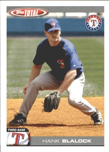 - 2004 Topps Total Team Checklists Baseball Card #TTC29 Hank Blalock