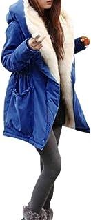 ZHRUI Felpa con Cappuccio da Donna, Capispalla per Donna, Inverno Caldo Pile in Pile (Colore : Blu, Dimensione : Small)
